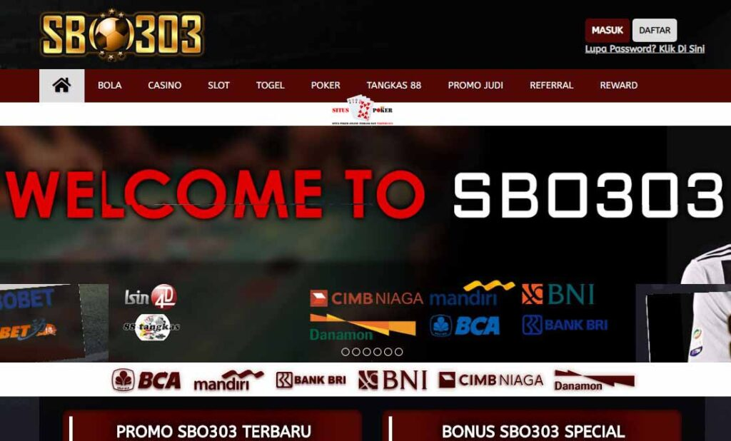 SBO303 Situs Agen Judi Bola Terpercaya